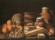 MELeNDEZ, Luis Still-Life with Oranges and Walnuts china oil painting reproduction