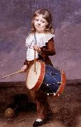 Martin  Drolling Portrait of the Artist-s Son as a Drummer china oil painting reproduction