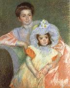 Mary Cassatt Reine Lefebvre and Margot china oil painting reproduction