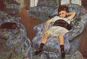 Mary Cassatt Ligttle Girl in a Blue Armchari china oil painting reproduction