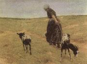 Max Liebermann Woman with Goats china oil painting reproduction