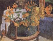 Paul Gauguin Sunflowers on a chair china oil painting reproduction