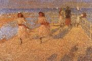 Philip Wilson Steer Girls Running china oil painting reproduction