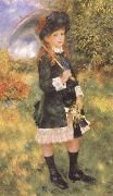 Pierre-Auguste Renoir Young Girl with a Parasol china oil painting reproduction