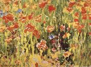 Robert William Vonnoh Poppies china oil painting reproduction