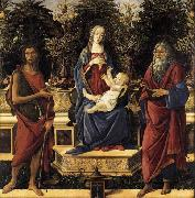 Sandro Botticelli The Virgin and Child Enthroned china oil painting reproduction