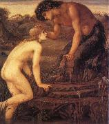 Sir Edward Coley Burne-Jones Pan and Psyche china oil painting reproduction