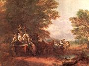 Thomas Gainsborough The Harvest Wagon china oil painting reproduction