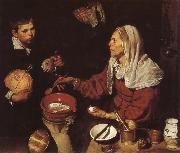 VELAZQUEZ, Diego Rodriguez de Silva y The Woman Fry eggs china oil painting reproduction