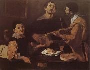 VELAZQUEZ, Diego Rodriguez de Silva y Three musician china oil painting reproduction