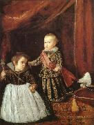 VELAZQUEZ, Diego Rodriguez de Silva y Basite and him playmate china oil painting reproduction