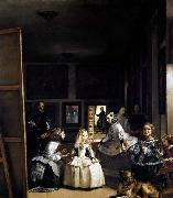 VELAZQUEZ, Diego Rodriguez de Silva y Las Meninas or The Family of Philip IV china oil painting reproduction