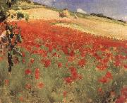 William blair bruce Landscape with Poppies china oil painting reproduction
