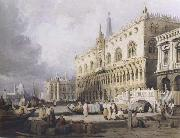 Samuel Prout The Doge s Palace and the Grand Canal,Venice (mk47) china oil painting reproduction