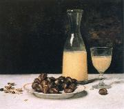 Albert Anker still life with wine and chestnuts china oil painting reproduction