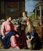 Alessandro Allori Christ with Mary and Martha oil