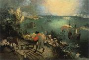 BRUEGEL, Pieter the Elder landscape with the fall of lcarus china oil painting reproduction