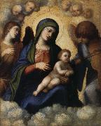 CASTIGLIONE, Giovanni Benedetto Embrace the glory of the Son and Our Lady of Angels china oil painting reproduction