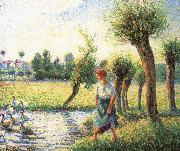 Camille Pissarro Ludas bank on women china oil painting reproduction