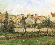 Camille Pissarro Pang plans under sunset Schwarz china oil painting reproduction