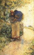 Camille Pissarro Back hay farmer china oil painting reproduction