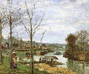 Camille Pissarro Seine River Edge china oil painting reproduction