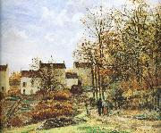 Camille Pissarro Walking in the countryside china oil painting reproduction