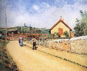 Camille Pissarro Pang plans Schwarz railway crossing china oil painting reproduction