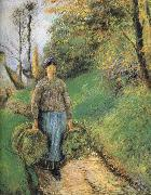 Camille Pissarro Mention hay farmer china oil painting reproduction