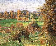 Camille Pissarro Autumn morning, a large walnut china oil painting reproduction