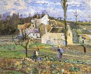 Camille Pissarro Cabbage harvest china oil painting reproduction