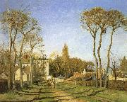 Camille Pissarro Village entrance china oil painting reproduction