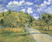 Camille Pissarro Road and hills china oil painting reproduction
