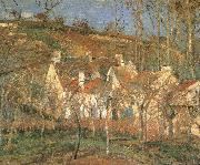 Camille Pissarro Red roof china oil painting reproduction