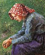 Camille Pissarro Sitting china oil painting reproduction