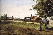 Camille Pissarro Entering the village china oil painting reproduction