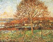 Camille Pissarro Under the sun large walnut china oil painting reproduction