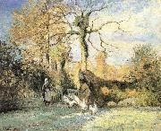 Camille Pissarro Ludas girls china oil painting reproduction
