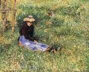 Camille Pissarro Woman and goats china oil painting reproduction
