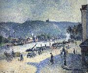 Camille Pissarro Rouen A Bend in the River china oil painting reproduction