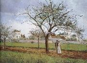 Camille Pissarro Pang plans Schwarz house china oil painting reproduction