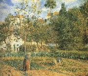 Camille Pissarro Pang plans Schwarz garden china oil painting reproduction