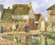 Camille Pissarro Duck pond china oil painting reproduction