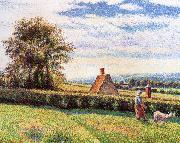 Camille Pissarro Women and the sheep china oil painting reproduction