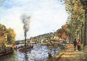 Camille Pissarro Seine china oil painting reproduction