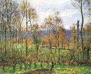 Camille Pissarro Cloudy Poplar china oil painting reproduction