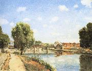 Camille Pissarro Pang map of the railway bridge Schwarz china oil painting reproduction