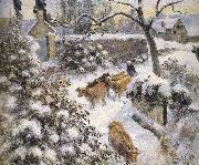 Camille Pissarro Snow china oil painting reproduction
