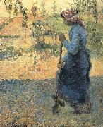 Camille Pissarro The woman excavator china oil painting reproduction