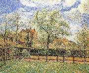 Camille Pissarro Pear trees bloom in the morning china oil painting reproduction